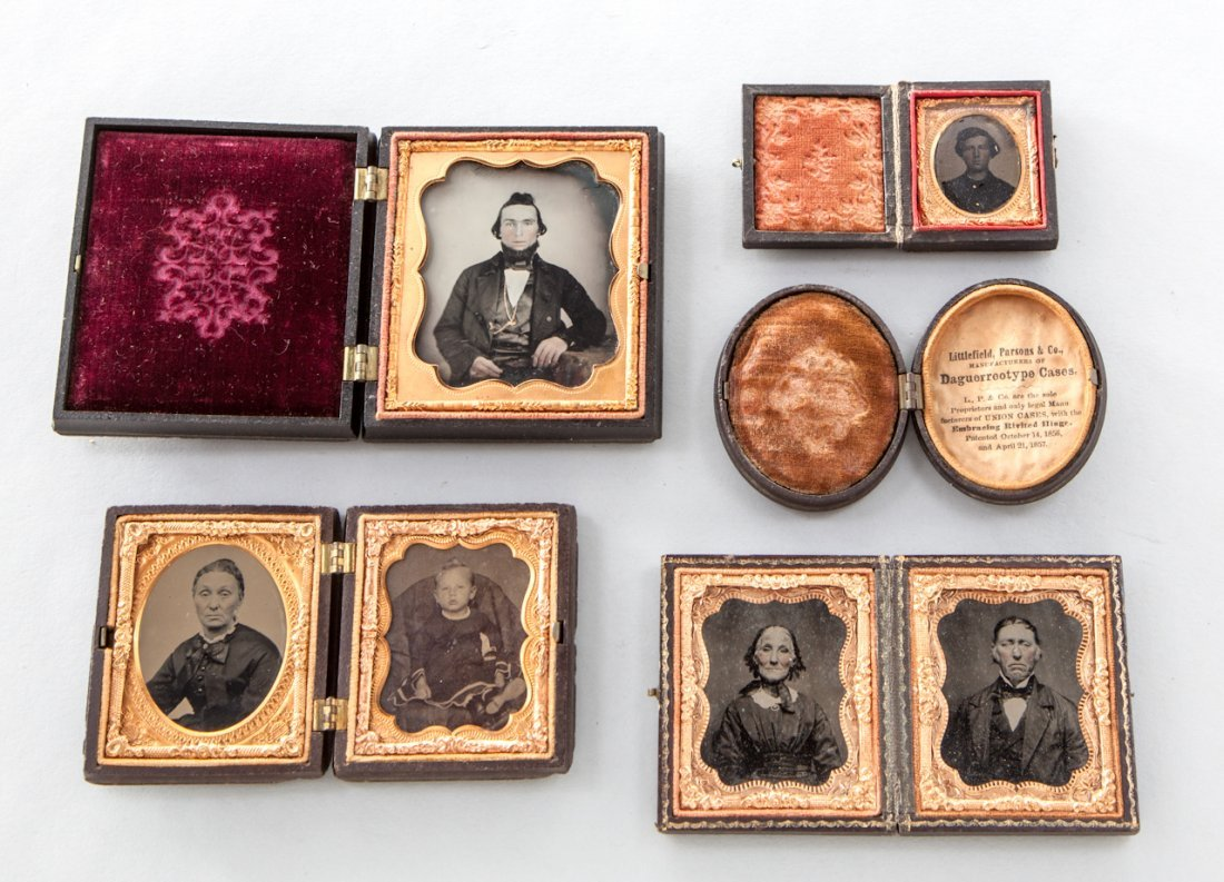 14: Lot of Four (4) Tintypes, Ambrotype & Daguerrotypes