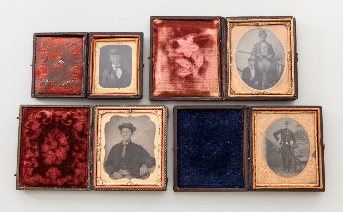 15: Lot of Four (4) Military Themed Tintypes