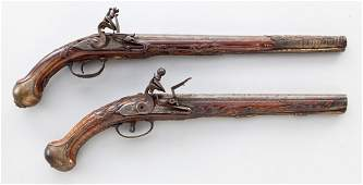 29: Lot of 2 Central European Flintlock Pistols
