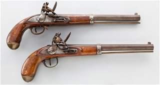31: Pair of Continental Flintlock Horse Pistols
