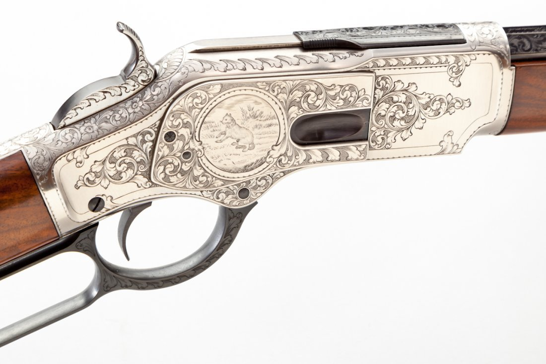 458: Uberti Model 1873 1 of 1000 Lever Action Rifle - 2
