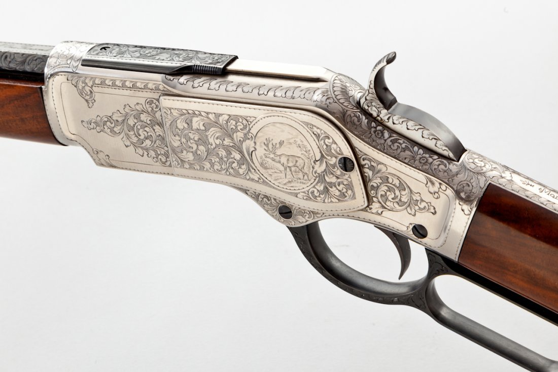458: Uberti Model 1873 1 of 1000 Lever Action Rifle - 5