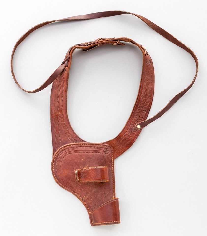 628: Tooled Leather Shoulder Holster