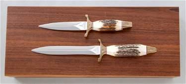 643: Lot of 2 Gerber MK I & MK II Fighting Knives