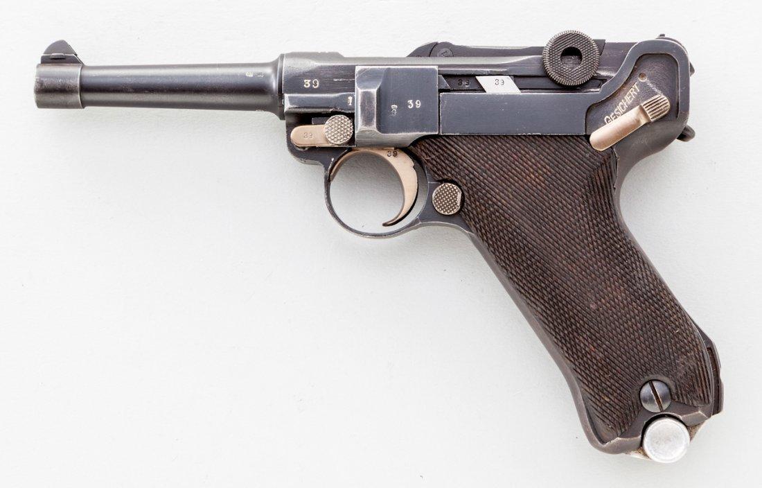 784: German P.08 Luger Semi-Automatic Pistol, by Erfurt