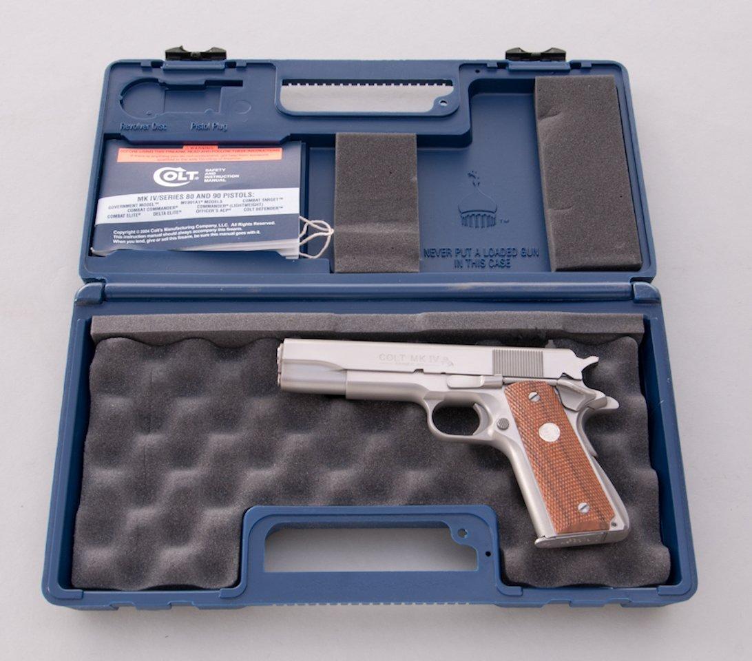 924: Colt MK IV Series 80 Government Model SA Pistol - 4