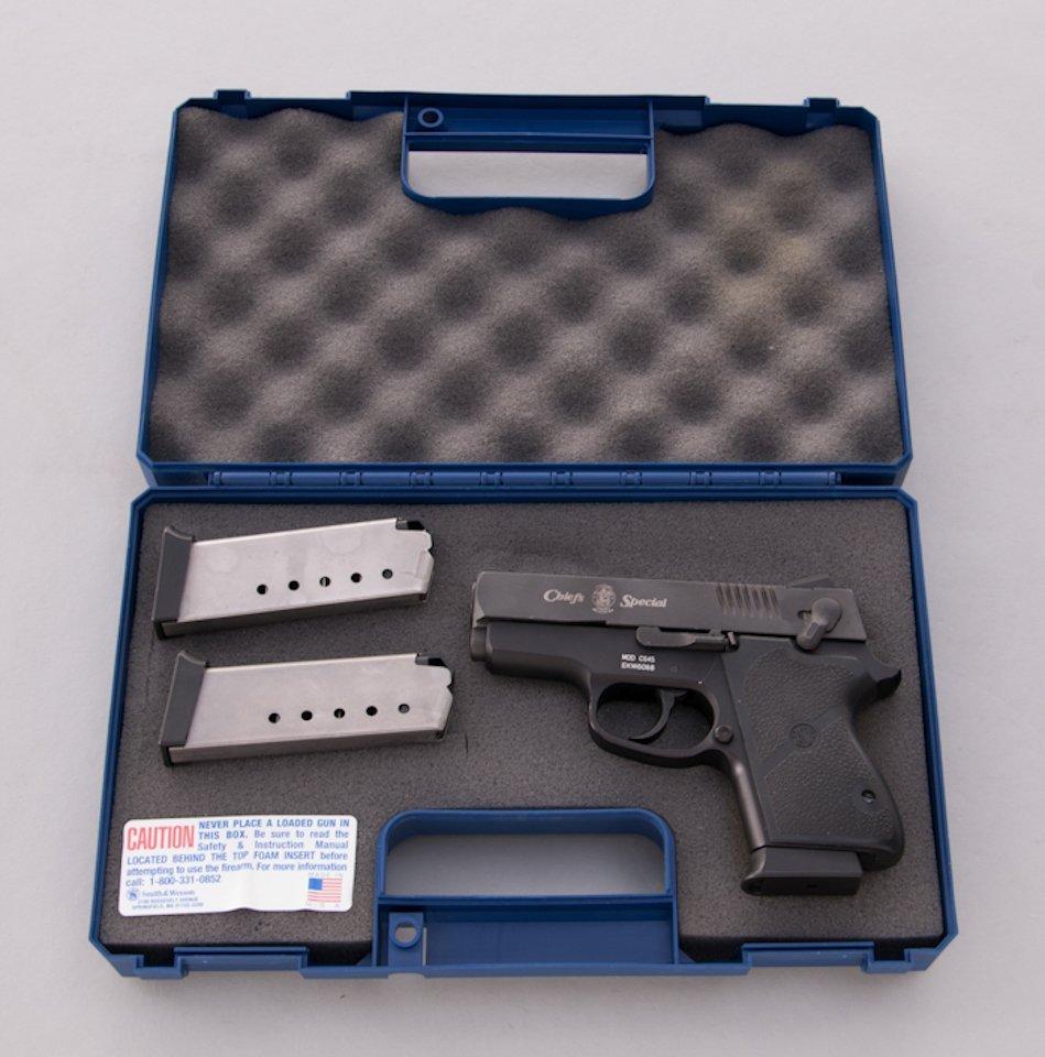 936: S&AW Model CS45 Chief's Special Semi-Auto Pistol - 4