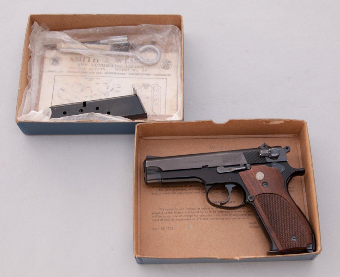 969: Early Alloy Frame S&W Model 39 Semi-Auto Pistol - 4