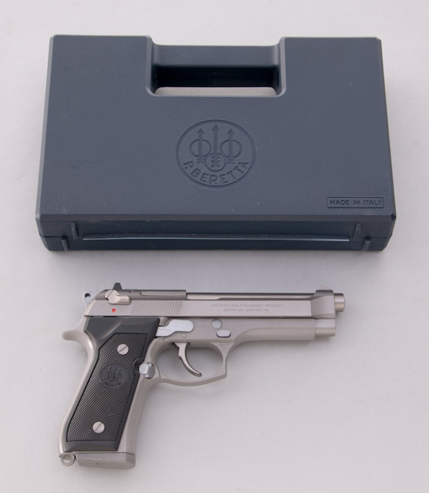987: Stainless Beretta 92FS Semi-Automatic Pistol