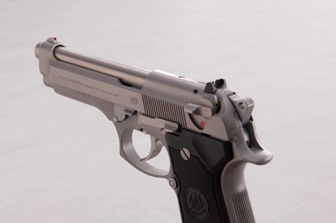 987: Stainless Beretta 92FS Semi-Automatic Pistol - 2