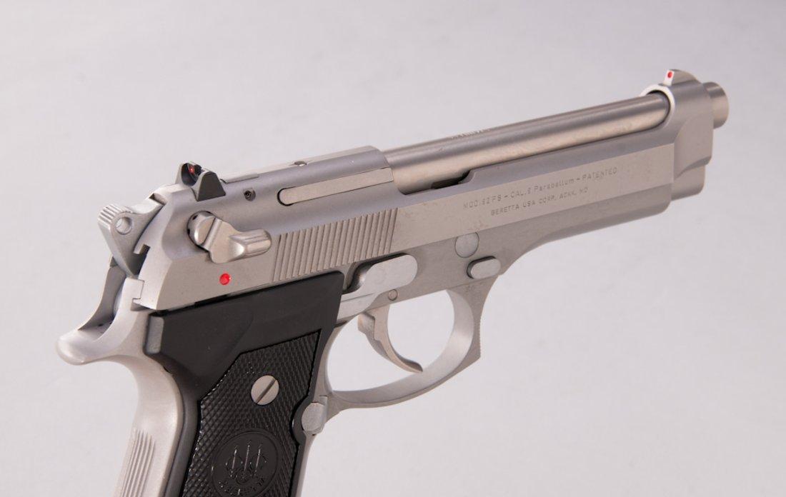 987: Stainless Beretta 92FS Semi-Automatic Pistol - 3
