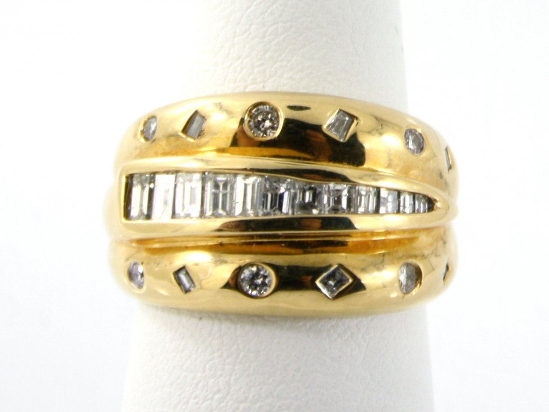 2: 18KT SOLID GOLD CHANNEL SETTING DIAMOND RING