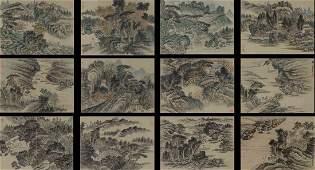 XIAO JUNXIAN COLOR AND INK ON PAPER LANDSCAPE ALBUM