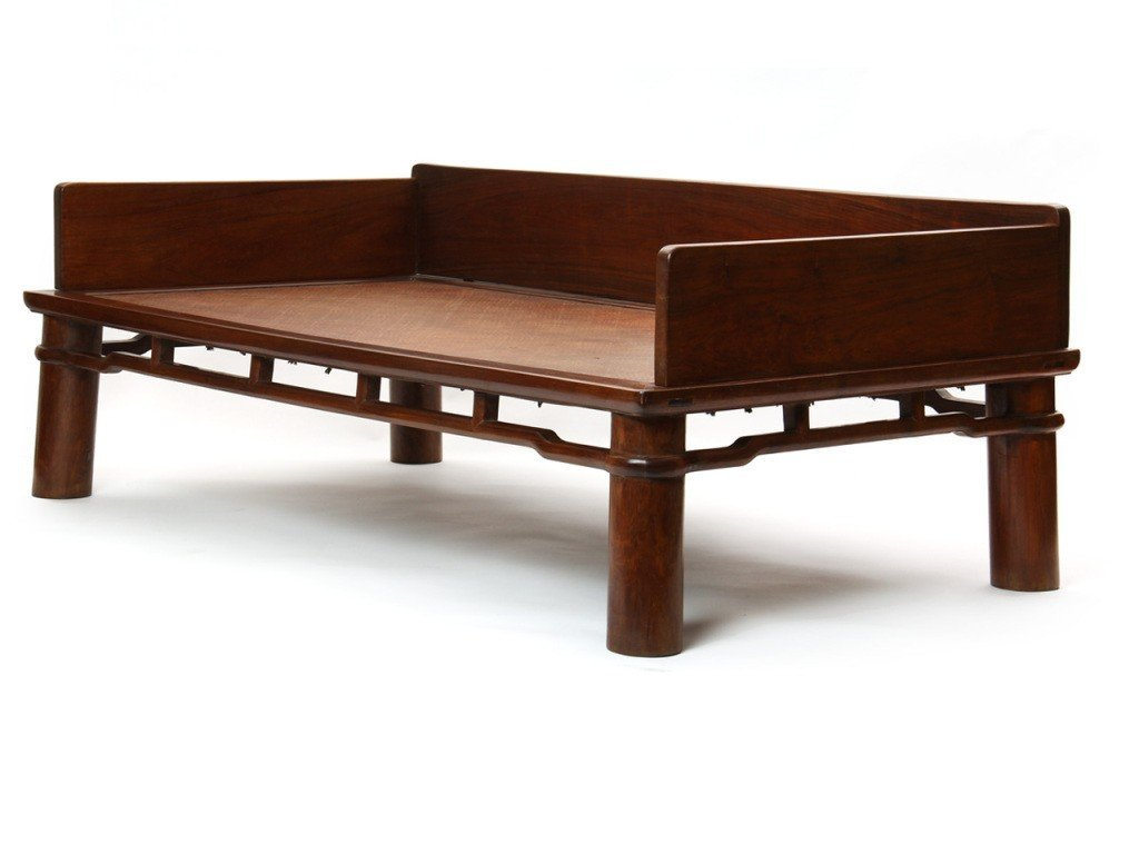 A LARGE HUANGHUALI LUOHAN COUCH-BED