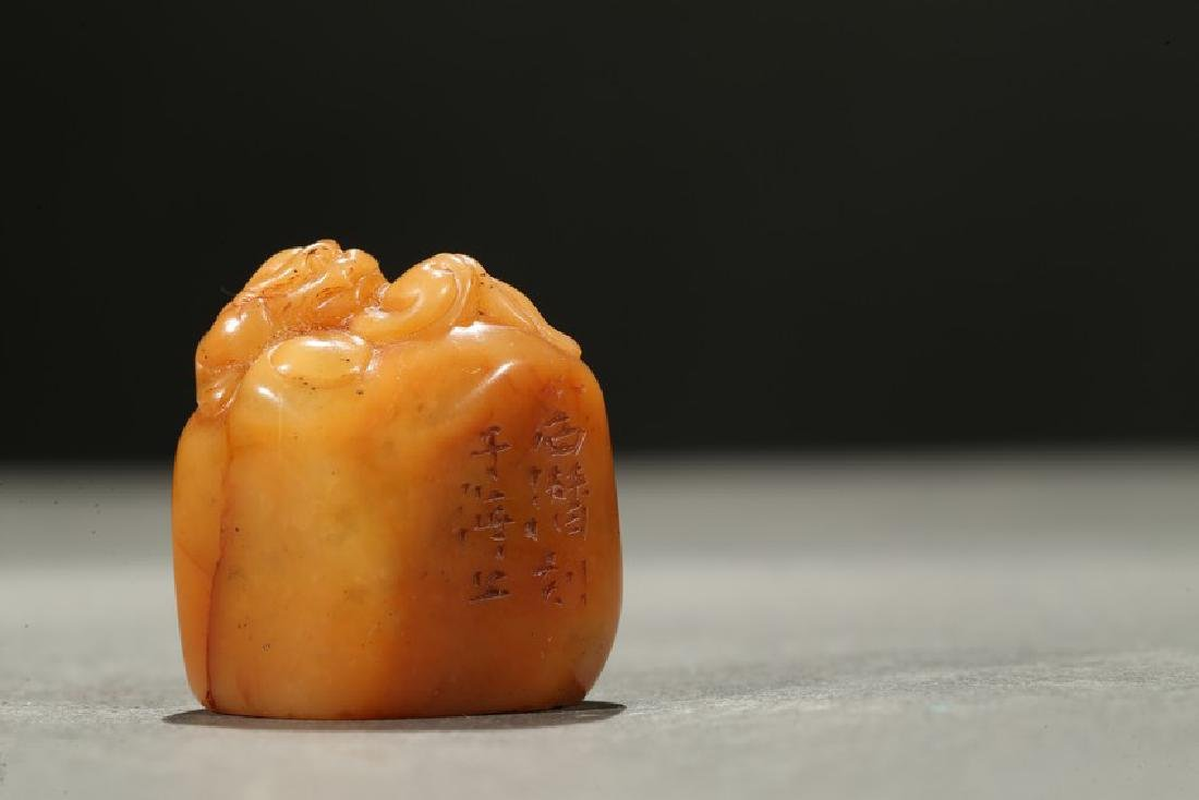 A TIANHUANG SOAPSTONE 'CHILONG' SEAL