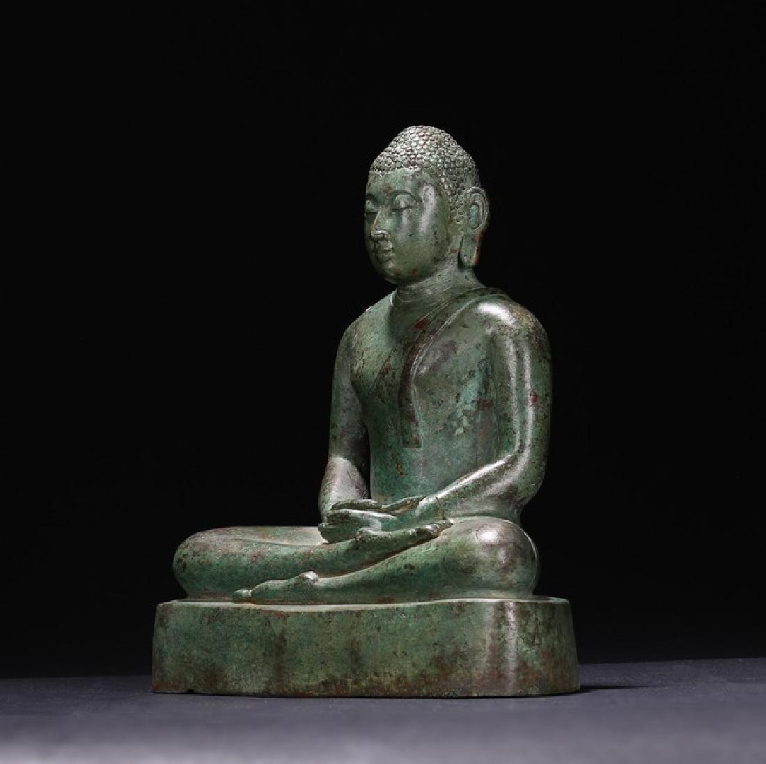 A BRONZE FIGURE OF BUDDHA - 3