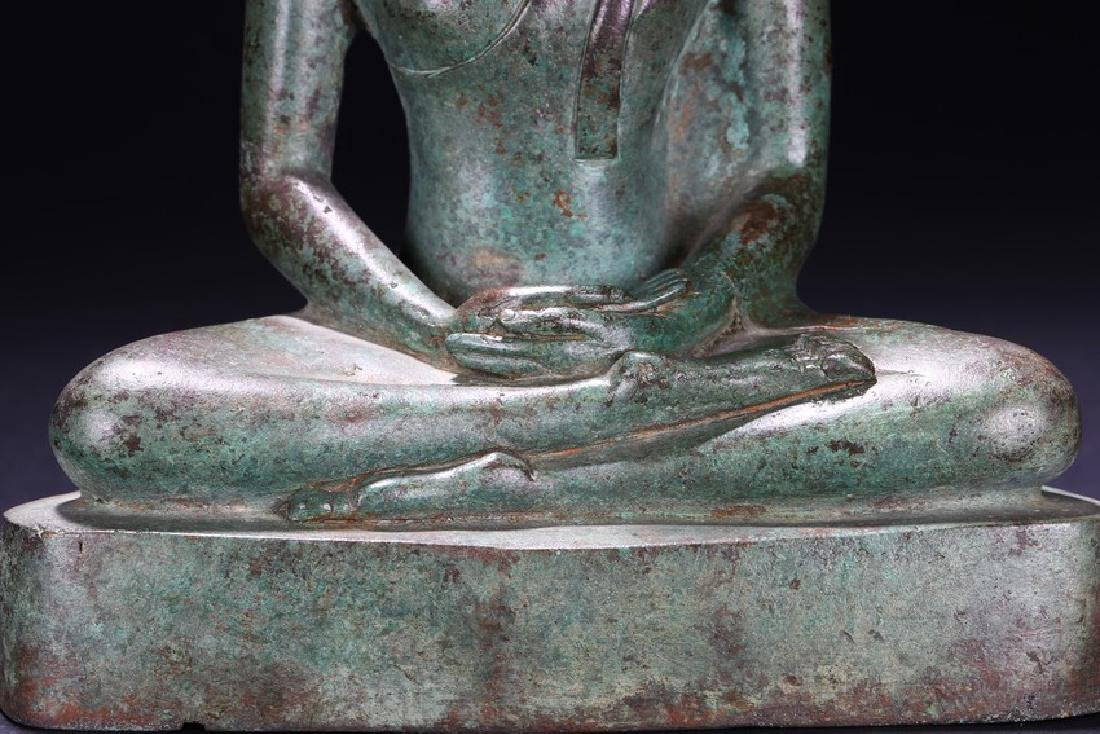 A BRONZE FIGURE OF BUDDHA - 8