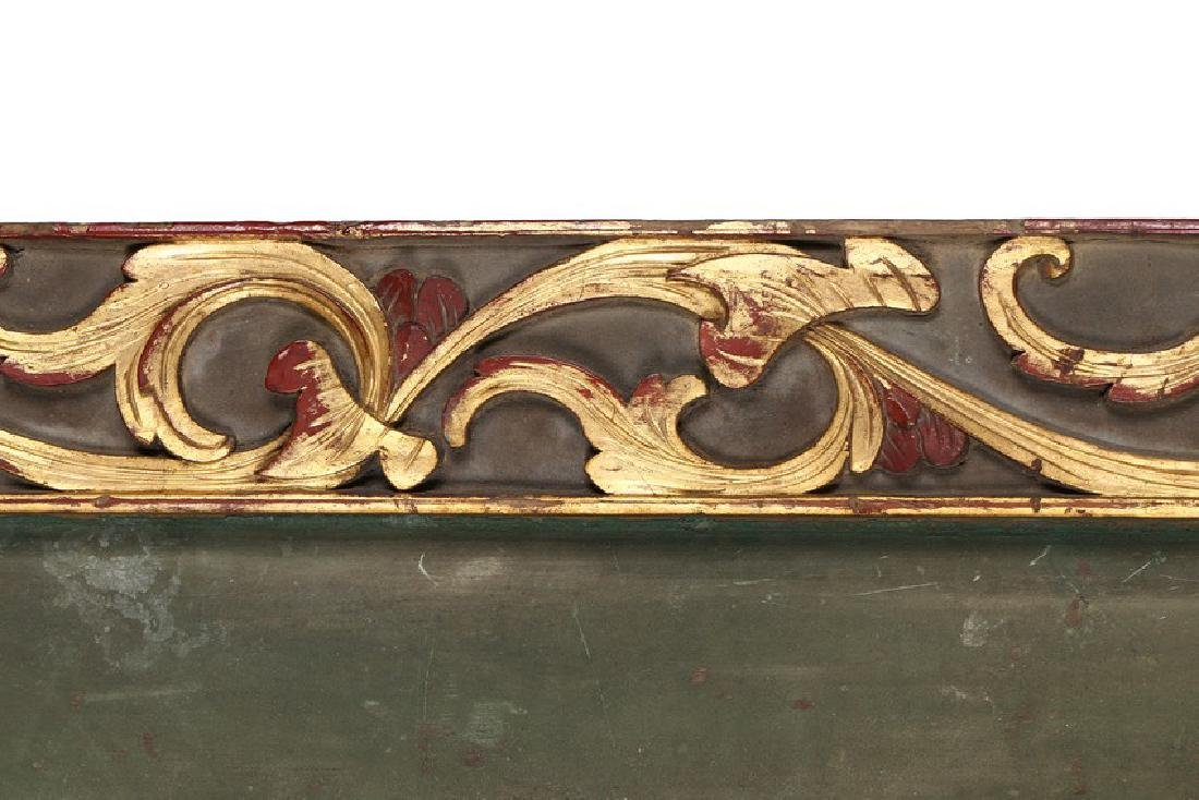 A GILT LACQUER WOOD 'SEAL-SCRIPT' CALLIGRAPHY PANEL - 7