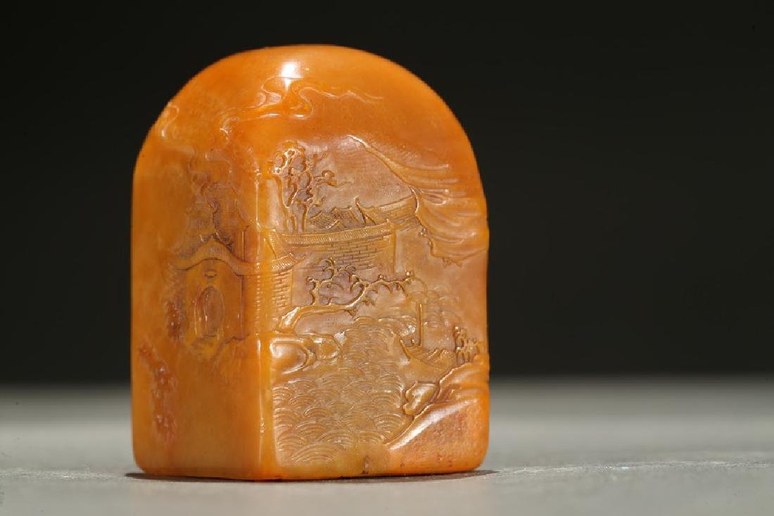A TIANHUANG 'FIGURES AND LANDSCAPE' SEAL - 8