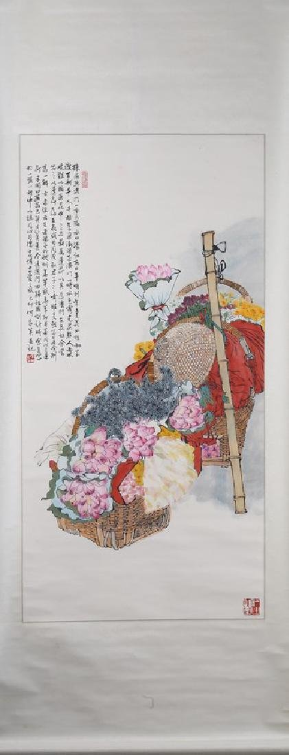 HE JIAYING: INK AND COLOR ON PAPER PAINTING - 2