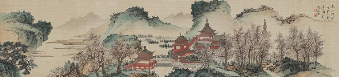 PU RU: COLOR AND INK ON SILK 'PAVILION TERRACE'