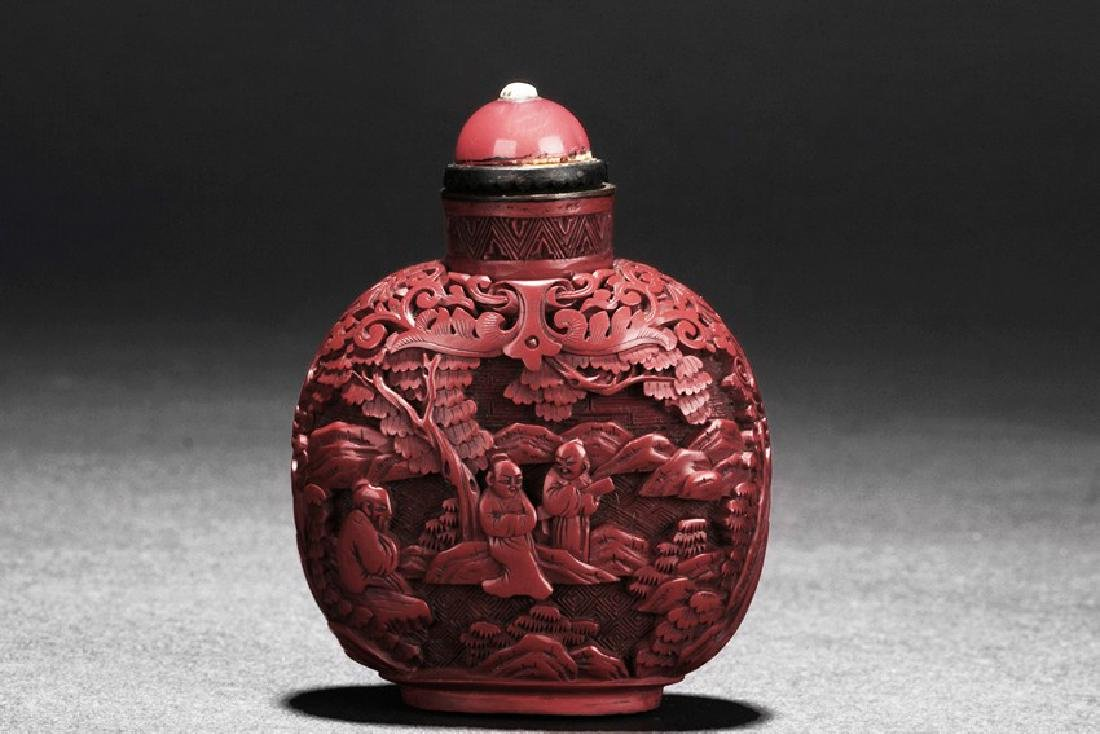 A SET OF TWO CHINESE SNUFF BOTTLES - 3