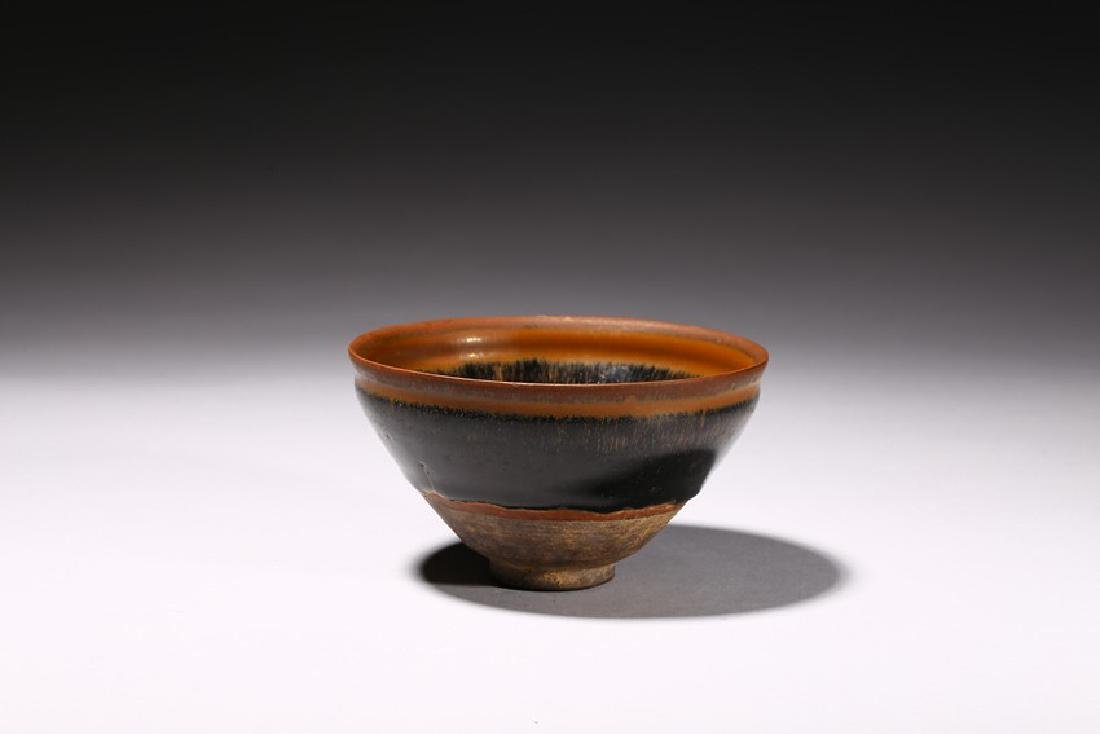 A CHINESE JIAN WARE HARE'S FUR BOWL