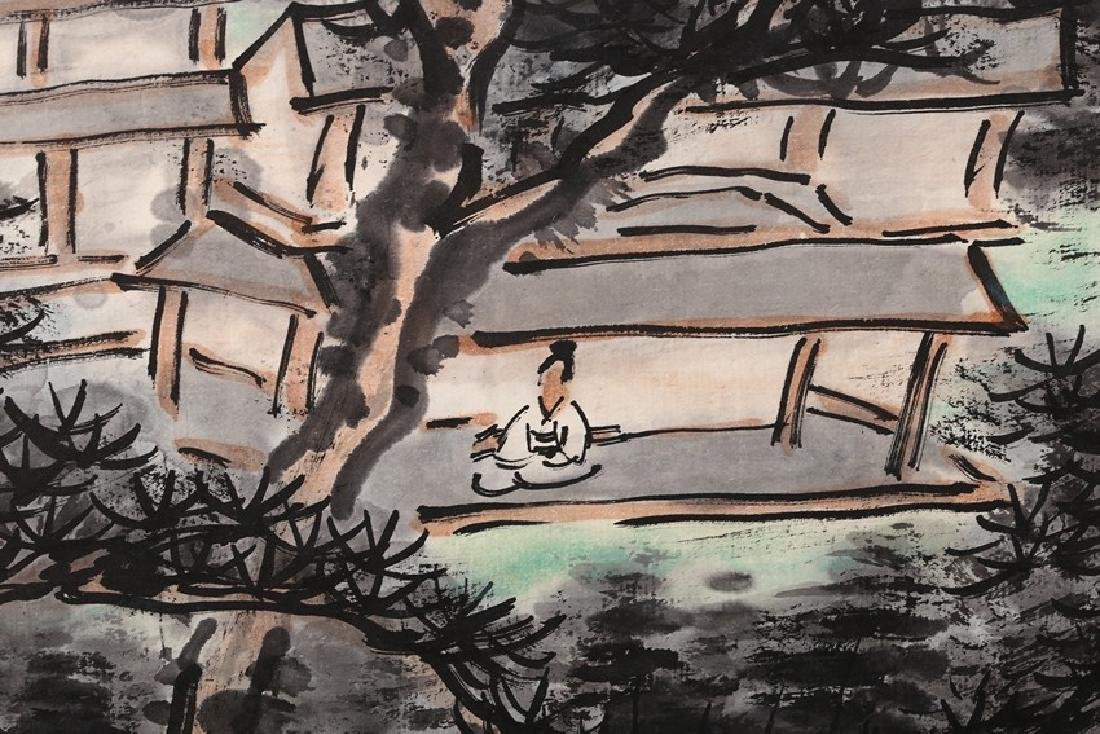 HUANG BINHONG: INK AND COLOR ON PAPER PAINTING - 3