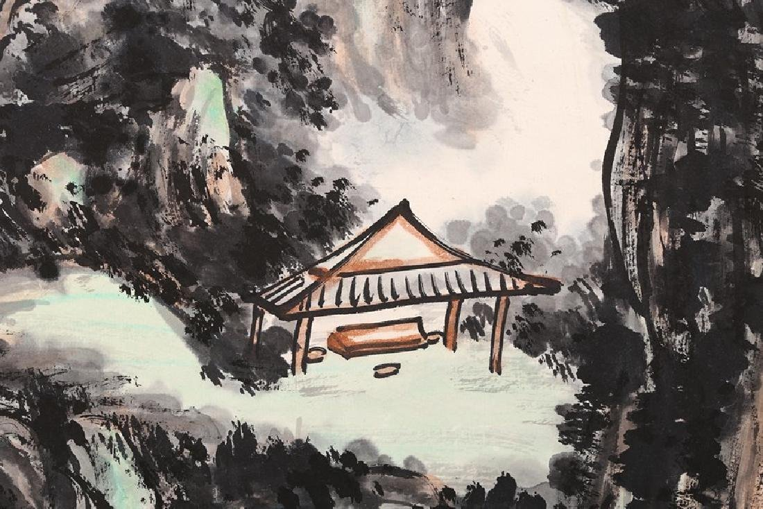 HUANG BINHONG: INK AND COLOR ON PAPER PAINTING - 4