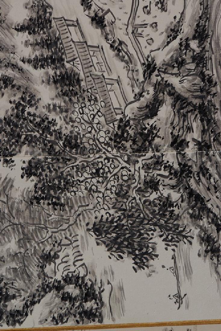 HUANG BINHONG: INK ON PAPER 'LANDSCAPE PAINTING - 6