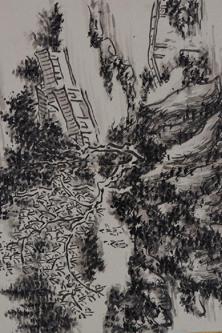 HUANG BINHONG: INK ON PAPER 'LANDSCAPE PAINTING - 8