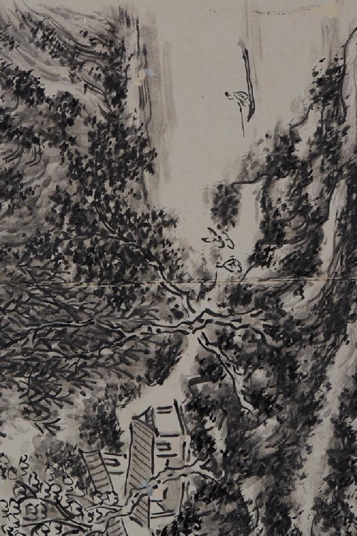 HUANG BINHONG: INK ON PAPER 'LANDSCAPE PAINTING - 9