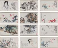 ZHANG DAQIAN COLOR AND INK ON PAPER FIGURE AND