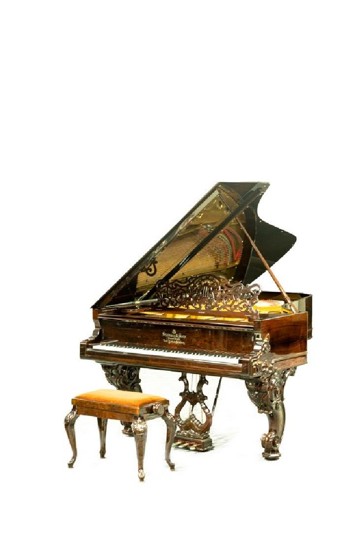 STEINWAY & SONS MODEL C ROSEWOOD CONCERT GRAND PIANO