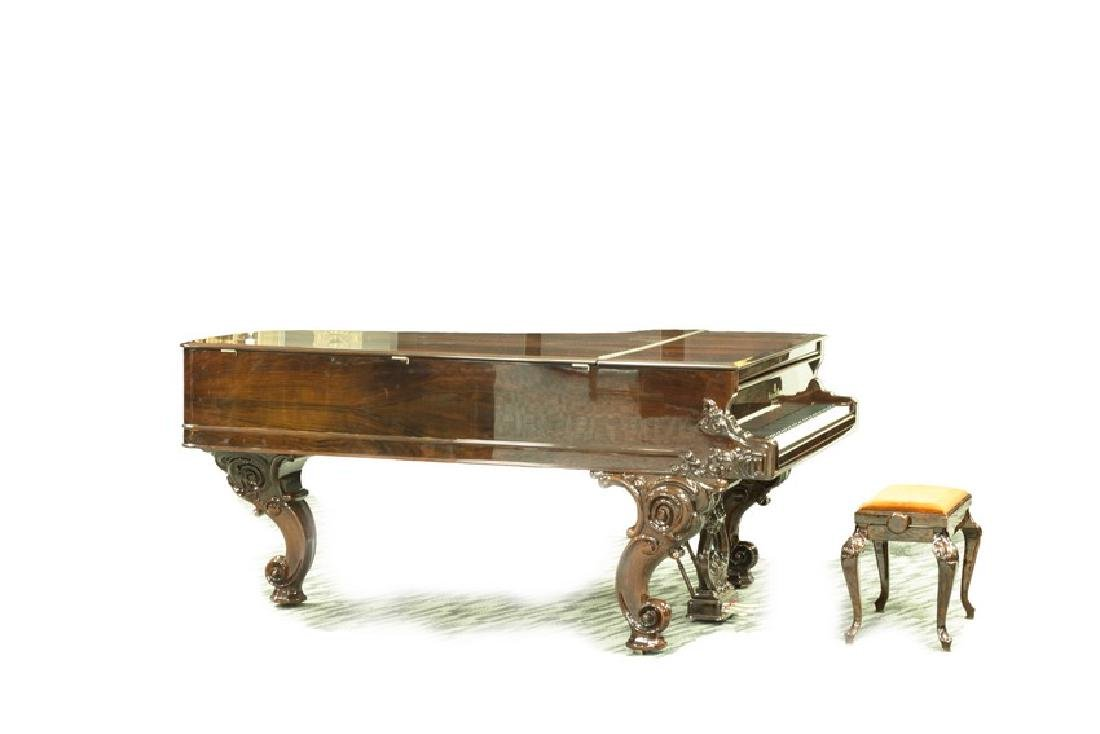 STEINWAY & SONS MODEL C ROSEWOOD CONCERT GRAND PIANO - 3