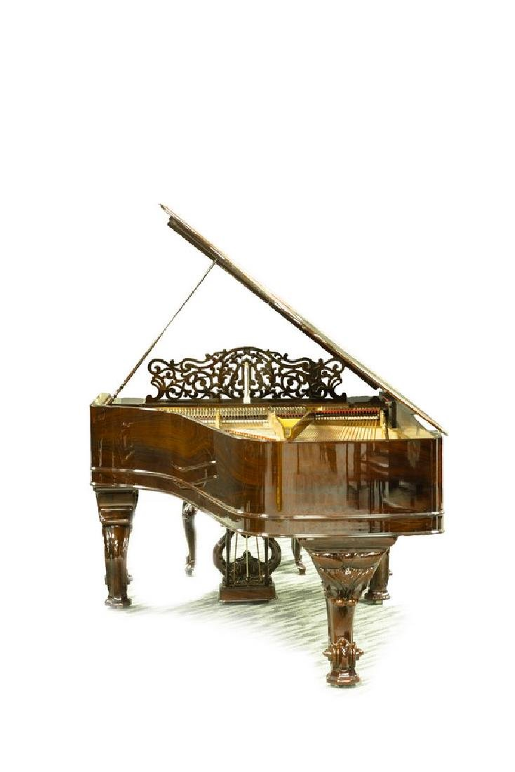 STEINWAY & SONS MODEL C ROSEWOOD CONCERT GRAND PIANO - 4
