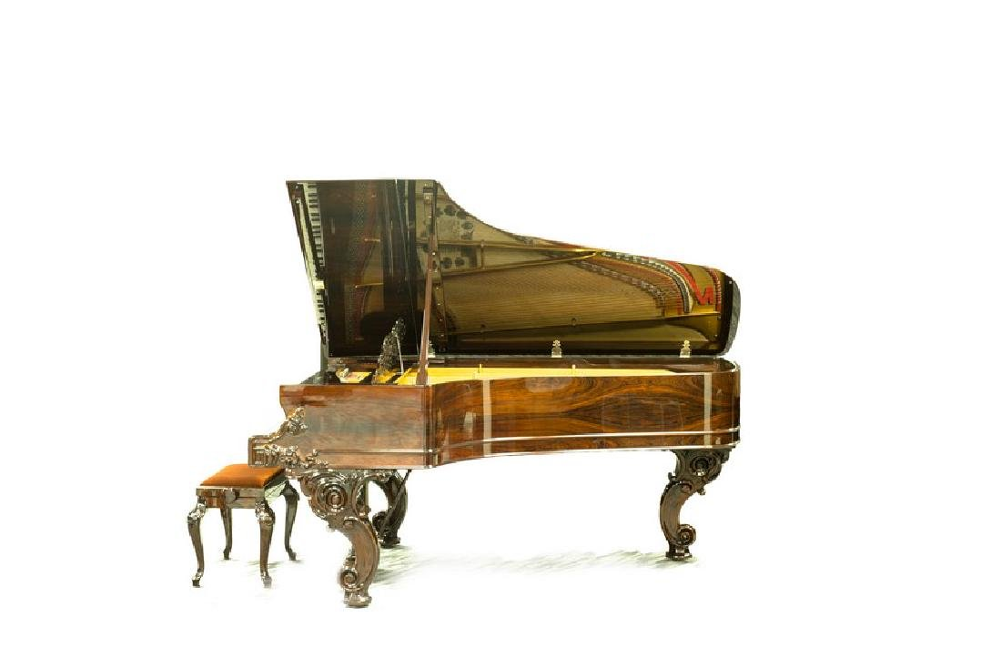 STEINWAY & SONS MODEL C ROSEWOOD CONCERT GRAND PIANO - 5