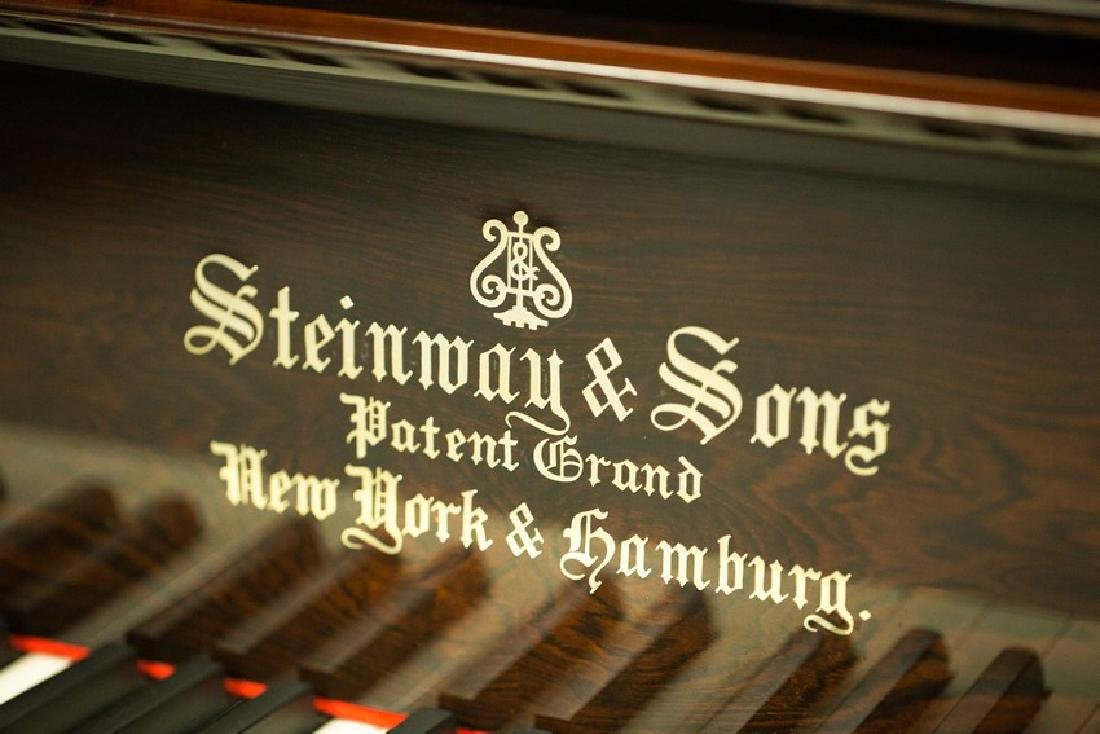 STEINWAY & SONS MODEL C ROSEWOOD CONCERT GRAND PIANO - 7