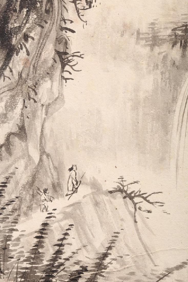 ZHANG DAQIAN: COLOR AND INK ON PAPER FOUR LEAF ALBUM - 10