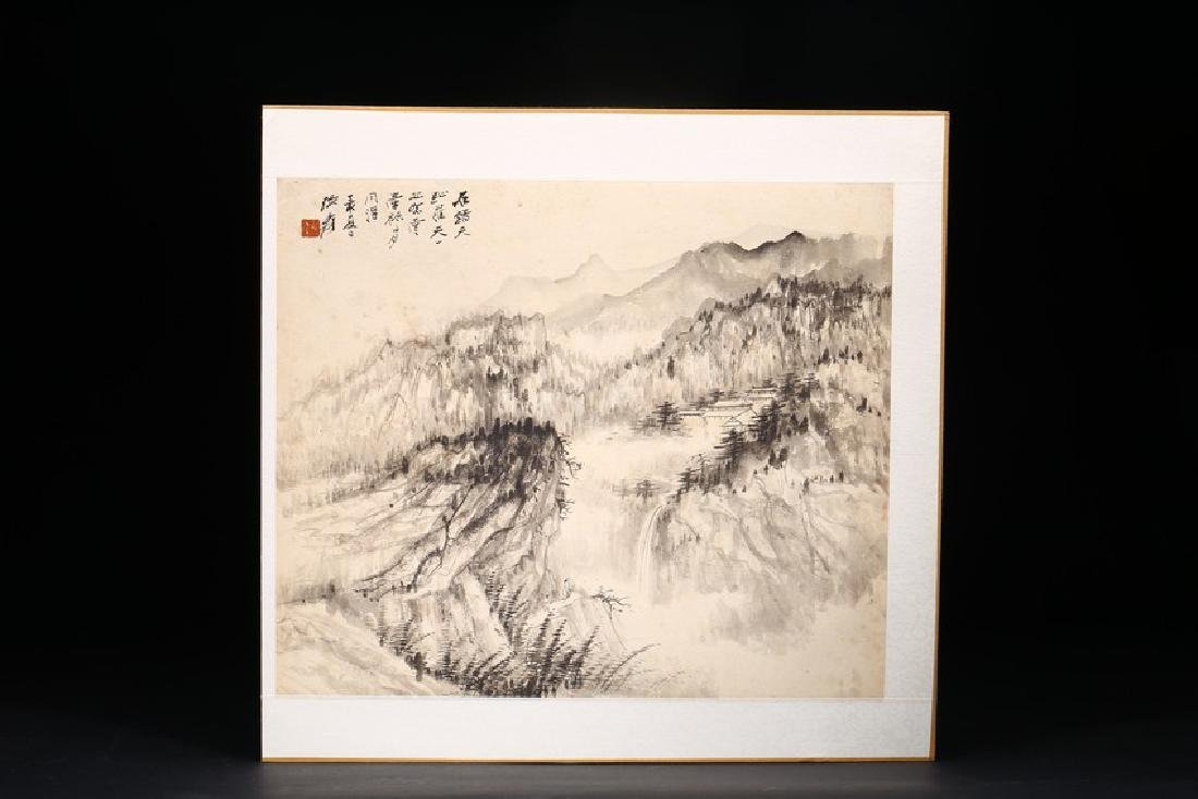 ZHANG DAQIAN: COLOR AND INK ON PAPER FOUR LEAF ALBUM - 6