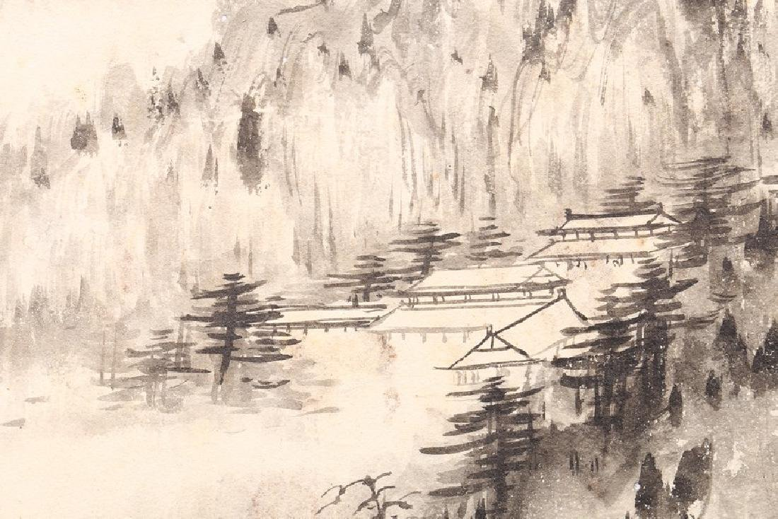 ZHANG DAQIAN: COLOR AND INK ON PAPER FOUR LEAF ALBUM - 9