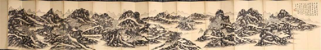 HUANG BINHONG INK ON PAPER PAINTING