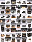 A GROUP OF 54 VINTAGE TYPEWRITERS AND CALCULATORS