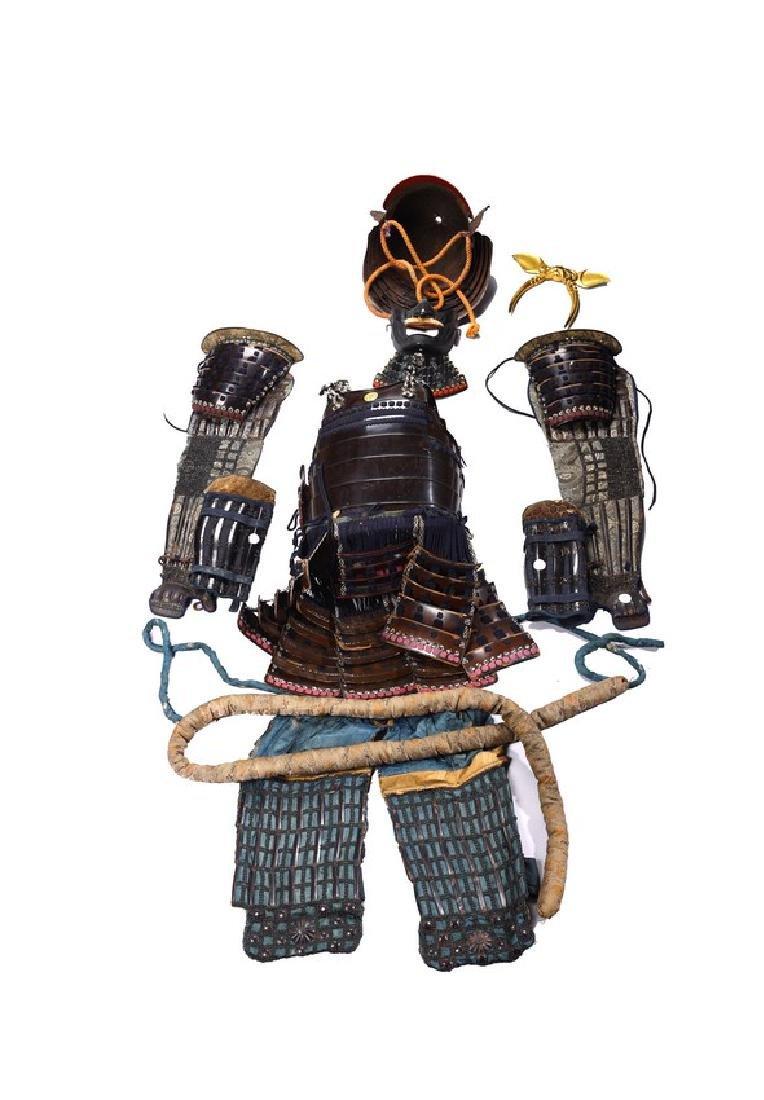 A JAPANESE SAMURAI GUSOKU ARMOR