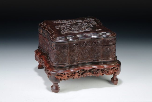 5: A WELL CARVED ZITAN SQUARE BOX