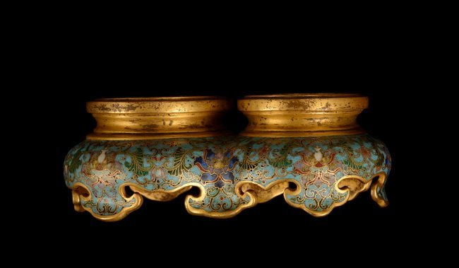 A SET OF CLOISONNE DOUBLE BOTTLE - 7