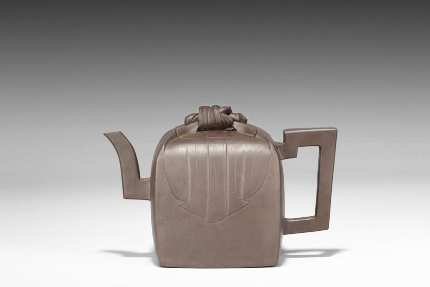 """HU CHI: A YIXING """"WRAPPED STAMP SEAL"""" TEAPOT"""