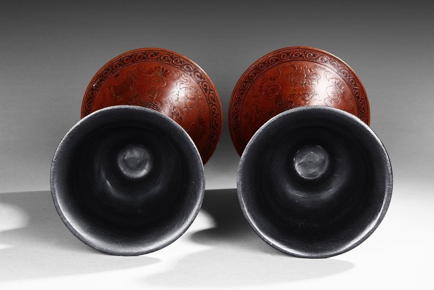 A PAIR OF GOURD CARVED VASES, HUAGU - 3