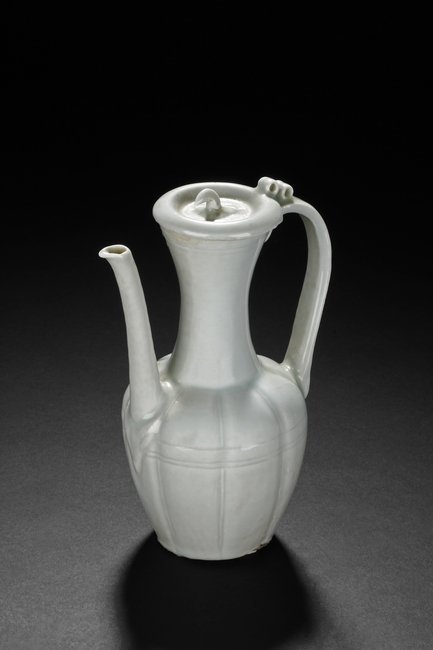 A CELADON GLAZED WATER POT