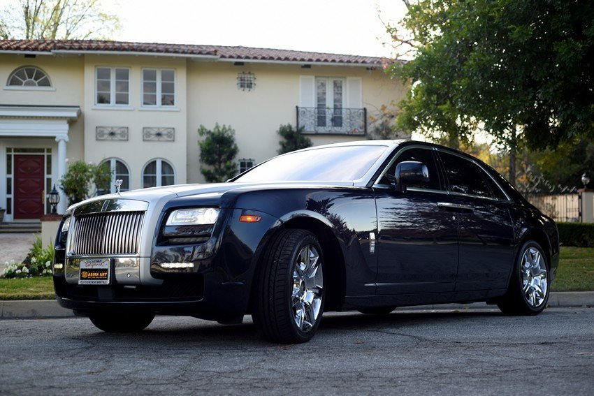 2011 BLUE ROLLS ROYCE GHOST SEDAN